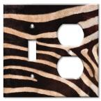 Zebra Fur Print - Switch / Outlet Combo Wall Plate