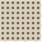 TechFloor 12 in. x 12 in. Tan/Medium Brown Vinyl Flooring Tiles (Quantity of 10)