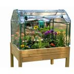 3 ft. x 4 ft. Eden Mini Greenhouse with Enclosed Herb Garden