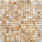 MS International Honey 12 in. x 12 in. x 10 mm Polished Onyx Mesh-Mounted Mosaic Tile (10 sq. ft. / case)