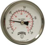 TSW Series 2 in. Dial Type Hot Water Thermometer with 1/2 in. NPT Brass Thermowell