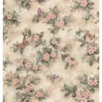 56 sq. ft. Butterfly Floral Wallpaper