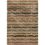 Forever Wave Multi 5 ft. 3 in. x 7 ft. 6 in. Indoor Area Rug
