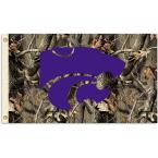 NCAA 3 ft. x 5 ft. Kansas State Flag - Realtree Camo Background