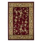 Traditional Florals Red/Beige 9 ft. 10 in. x 13 ft. 2 in. Area Rug