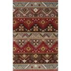 Dillon Rust Wool 3 ft. 6 in. x 5 ft. 6 in. Area Rug