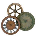 33 in. x 35 in. Gears Wall Clock