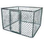6 ft. x 6 ft. x 4 ft. Galvanized Steel Boxed Kennel Kit