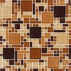 Chestnut Blend Magic Pattern 12 in. x 12 in. x 8 mm Glass Mesh-Mounted Mosaic Tile