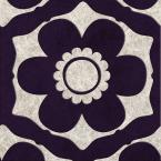 56 sq. ft. Purple Funky Flora Wallpaper