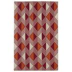 Nomad Red 3 ft. 6 in. x 5 ft. 6 in. Area Rug