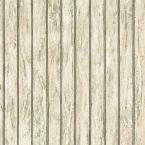 56 sq. ft. Beige Bead Board Wallpaper-DISCONTINUED
