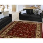 Royalty Red/Ivory 7 ft. 8 in. x 10 ft. 4 in. Indoor Area Rug