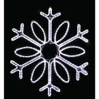 36 in. Loop Snowflake (Pure White)