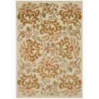 Martha Stewart Floating Dahlia Creme 5 ft. 3 in. x 7 ft. 6 in. Area Rug