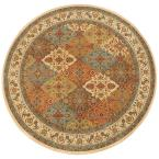 Persia Almond Buff 8 ft. Round Area Rug