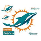 39 in. H x 49 in. W Miami Dolphins Logo Wall Mural
