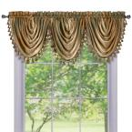 Ombre Waterfall 42 in. L Polyester Valance in Earth
