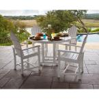 Siesta Key 5-Piece All-Weather Patio Dining Set with 4 Adirondack Dining Chairs and Table