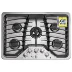 Profile 30 in. Deep Recessed Gas Cooktop in Stainless Steel with 5 Burners including Tri-Ring Burner