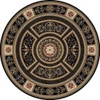 Empire Black 7 ft. 10 in. Round Area Rug