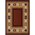 Glenwood Brown Lodge 5 ft. 3 in. x 7 ft. 6 in. Indoor Area Rug