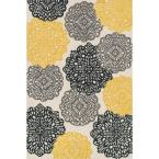 Weston Lifestyle Collection Ivory/Charcoal 5 ft. x 7 ft. 6 in. Area Rug
