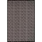 Machine Made Light Gray 5 ft. x 7 ft. 6 in. Geometric Area Rug