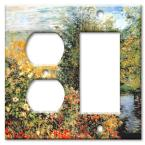 Monet: Stiller Winkle - Outlet / Rocker Combo Wall Plate