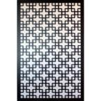 1/4 in. x 32 in. x 4ft. Black Chinese Style 1 Vinyl Decor Panel