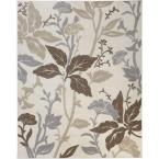 Blooming Flowers Ivory 7 ft. 10 in. x 9 ft. 10 in. Area Rug