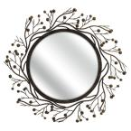 Berry Brown 38.25 in. x 38.25 in. Mirror