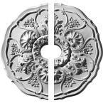 22-1/2 in. O.D. x 3-1/2 in. I.D. x 1-1/2 in. P Cornelia Ceiling Medallion (2-Piece)