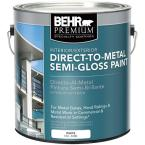 1 gal. White Semi-Gloss Direct to Metal Interior/Exterior Paint