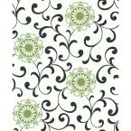 56 sq. ft. Medallion with Scroll Wallpaper