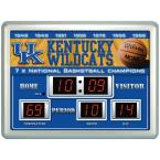 University of Kentucky 14 in. x 19 in. Scoreboard Clock with Temperature