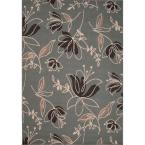 Handmade Blue Surf 2 ft. x 3 ft. 7 in. Floral Area Rug