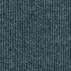 Sisteron Sky Grey Wide Wale 18 in. x 18 in. Indoor/Outdoor Carpet Tile (10 Tiles/ Case)