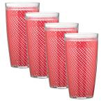 Fishnet 24 oz. Red Insulated Drinkware (Set of 4)