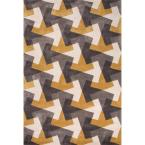 Hand Tufted Ochre 5 ft. x 7 ft. 6 in. Geometric Area Rug