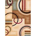 Barclay Arcs and Shapes Ivory 9 ft. 3 in. x 12 ft. 6 in. Modern Geometric Area Rug