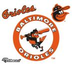 39 in. H x 39 in. W Baltimore Orioles Classic Logo Wall Mural
