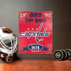 14.5 in. H x 11.5 in. D Heavy Duty Steel Washington Capitals Embossed Metal Sign Wall Art