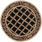 Chelsea Black/Gold 4 ft. Round Area Rug