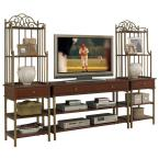 St. Ives Cinnamon Cherry Finish Media Entertainment Center (3-Piece)