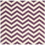 Chatham Purple/Ivory 9 ft. x 9 ft. Square Area Rug