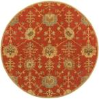 Avitus Rust 6 ft. x 6 ft. Round Indoor Area Rug