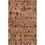Bohemian Brown/Gold 5 ft. x 8 ft. Area Rug