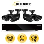 8 CH 500GB HDD Surveillance System with (4) 480 TVL Cameras and 75 ft. of Night Vision