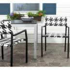 Halden White and Black Aluminum PE Wicker Patio Armchair (2-Pack)